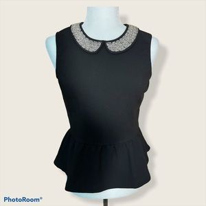 3/30 Deal ! Top with statement collar